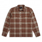 Brixton Martel JJE L/S Flannel Brown/Grey