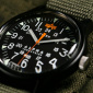 Timex x Alpha Industries MK1 Aluminium 40mm 3-hand Black Case Black Dial