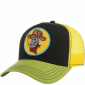 Stetson Trucker Cap Skull Cowboy Black-Yellow