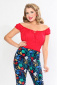 Bettie Page La Fiesta top red