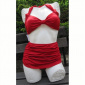 Esther Williams Two-piece classic solid red