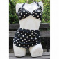 Esther Williams Two-piece classic polka dot black/white