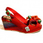 Norma Red Wedge Sandal