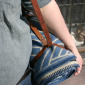 Indigofera Blanket Carrier Re-used Leather