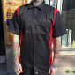 Dickies S/S Two Tone Black/Red Shirt