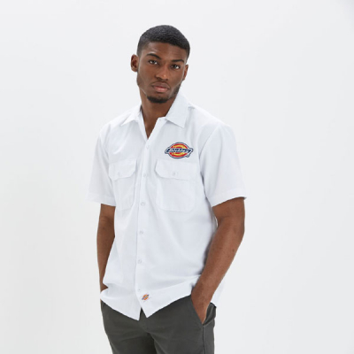 Dickies Clintondale shirt white i gruppen Kampanj / Big and Tall hos Sivletto - Skylark AB (05200348WH)