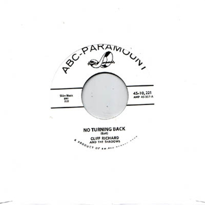 Cliff Richard - No Turning Back b/w Mean Woman Blues i gruppen Övrigt / Musik / Vinyl hos Sivletto (5322)