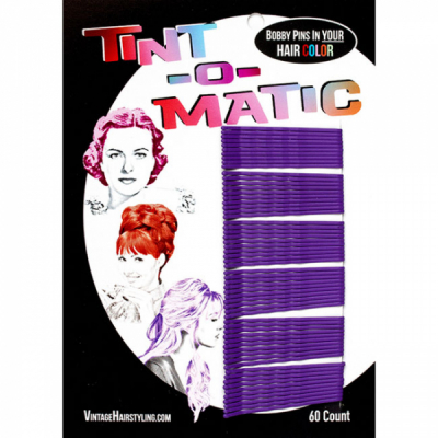 Tint-o-Matic Bobby Pins Deep purple i gruppen Grooming / Hårstyling dam / Clips, pins etc hos Sivletto - Skylark AB (7851DP)