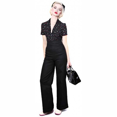 Collectif Franky swing trousers  i gruppen Dam / Byxor hos Sivletto (9652)