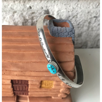 MoonPi Stacking cuff turquoise/silver i gruppen Dam / Smycken hos Sivletto - Skylark AB (MP3)