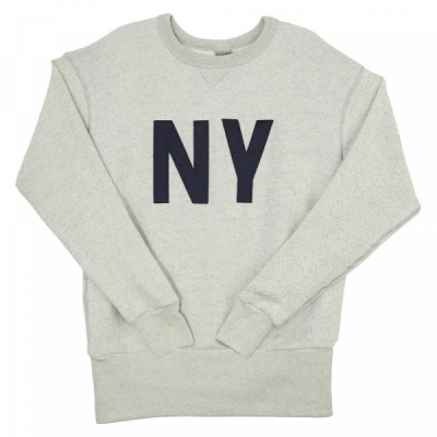Ebbets Field New York Gothams Crewneck Sweatshirt Heather Gray i gruppen Rea! / Herr / Tröjor hos Sivletto - Skylark AB (NYGCS)