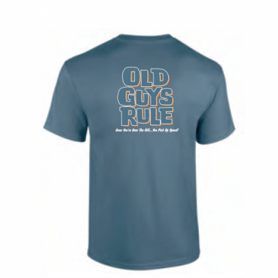 Old Guys Rule Over the Hill Indigo Blue Tee i gruppen Herr / T-shirts hos Sivletto - Skylark AB (OGR-overthehill-indigo)