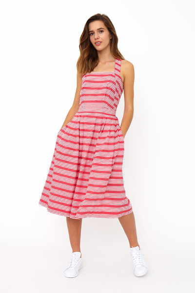 Emily and Fin Romy cross back sun dress beachcomber stripe i gruppen Dam / Klänningar hos Sivletto - Skylark AB (Rmd-0309)