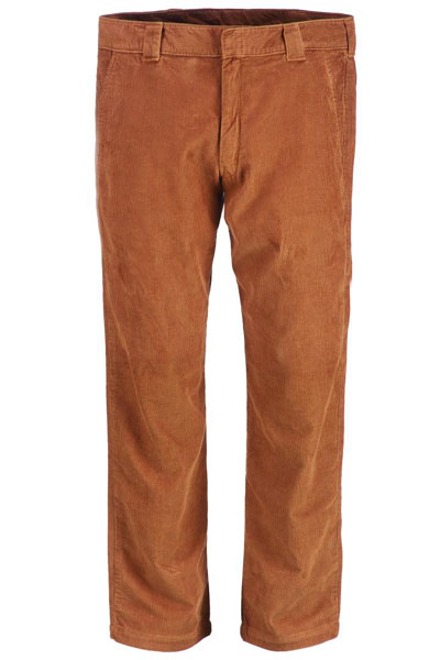 Dickies 873 Slim Straight Work Pant Cord Brown duck i gruppen Herr / Slacks hos Sivletto - Skylark AB (WP873CBD)