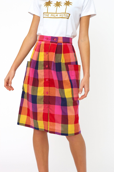 Emily and Fin Zoe skirt sunset plaid i gruppen Dam / Kjolar hos Sivletto - Skylark AB (Zos-0308)