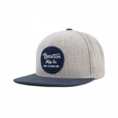 Brixton Wheeler Cap Light Heather Grey/Navy