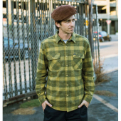 Brixton Bowery L/S Flannel Avocado