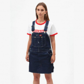 Dickies Hopewell Bib Dress Rinsed Indigo Blue