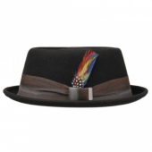 Stetson Colour change ribbon pork pie hat
