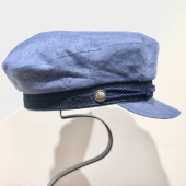 Stetson Riders Cap Linen Light Blue