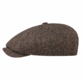 Stetson 8-Panel Harris tweed cap