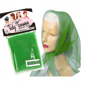 Tidy Tresses Hair Scarf with Coordinating Color Bobby Pins Green