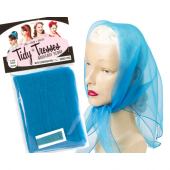 Tidy Tresses Hair Scarf with Coordinating Color Bobby Pins Electric blue