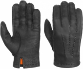 Stetson Lined Gloves Deer Nappa Black