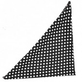 Collectif Polka dot chiffon bandana black
