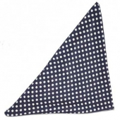 Collectif Polka dot chiffon bandana navy