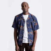 Brixton Cruze S/S Shirt Washed Navy/Ginger