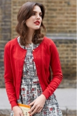 Emily and Fin Clementine L/Slv Cardigan Red