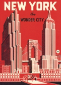 Cavallini Poster New York wonder city