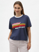 Dickies Cadwell Women's Cropped T-shirt Navy