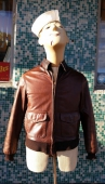 Vintage Leather Civilian Flight Jacket Brown