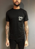 Jernhest Pocket Logo Black Tee