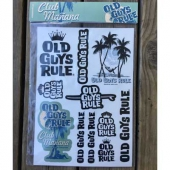Old guys rule club manana sticker pack