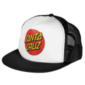 Santa Cruz Classic Dot Mesh Trucker Black/White