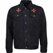 Santa Cruz Dressen Rose Kit Jacket Black Denim