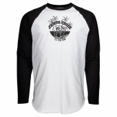 Santa Cruz Horizon L/S Baseball Top Black/White