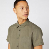 Wrangler Short Sleeve One Pocket Shirt Dusty Olive