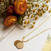Eclectic eccentricity decisions decisions gold necklace