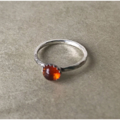 MoonPi Gemdrop Amber ring