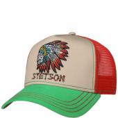 Stetson Trucker Cap Indian Skull Red e41fb468424a0