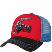 Stetson Trucker Cap Skeleton Shot Light Blue