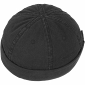 Stetson Docker Cap Cotton Black