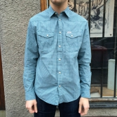 Wrangler L/S Western Shirt Blue Coral