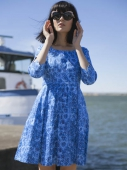 Jumperfabriken Blue Rose Dress