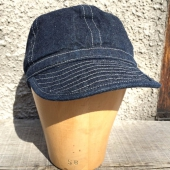 Buzz Rickson's Army Denim Cap Solid