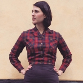 Freddies Of Pinewood Cherry Tartan Shirt-jac